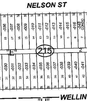 Part of a Chicago Plat Map with Standard Chicago Lots