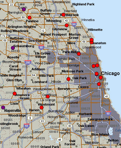 Chicago Area Whole Foods Map - Chicago Metro Area Real Estate