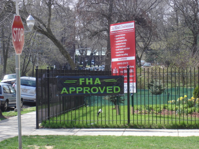 Sign for FHA Approved Condos