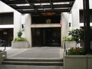 Entrance of 50 E Bellevue