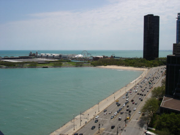 View of Navy Pier and Lake Shore Tower from 840 N Lake Shore Drive 1701