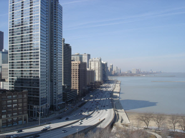 View from a 1 Bedroom Condo at 505 N Lake Shore Drive
