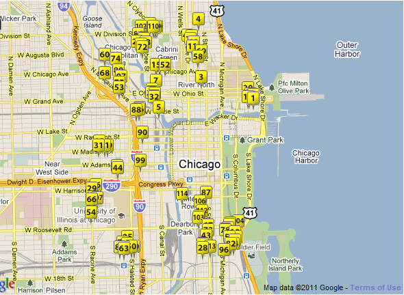 Downtown Chicago Townhouses For Sale (Not Interactive)