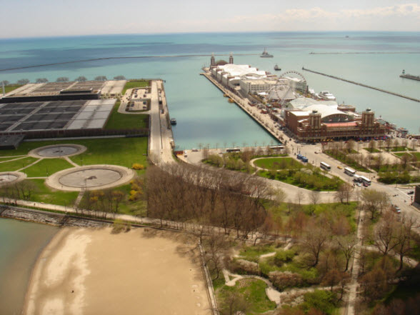 View From Balcony of 600 N Lake Shore Drive 3304