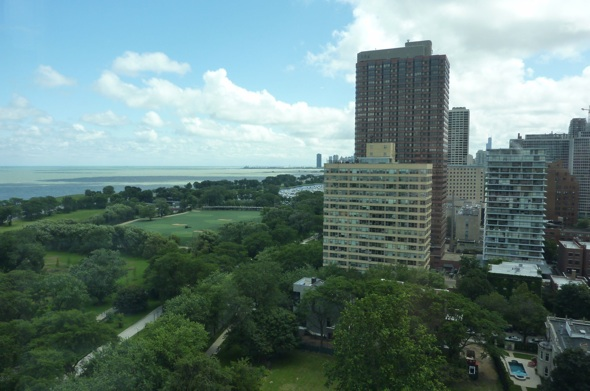 South View from 19th floor of 3100 N Lake Shore Drive