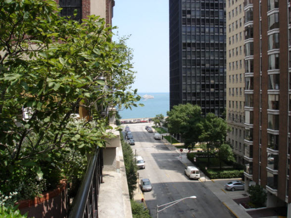View Towards Lake Michigan From 210 E Walton Place Roof Terrace