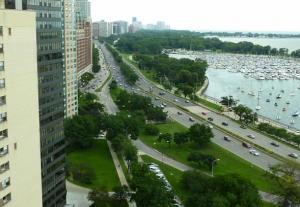 Condos Along Lake Shore Drive in Chicago's Lakeview Neighborhood