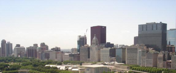 Michigan Avenue Condos Including The Columbian (far left) and Metropolitan Tower (center)