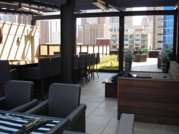 Luxury Roof Deck In Downtown Chicago